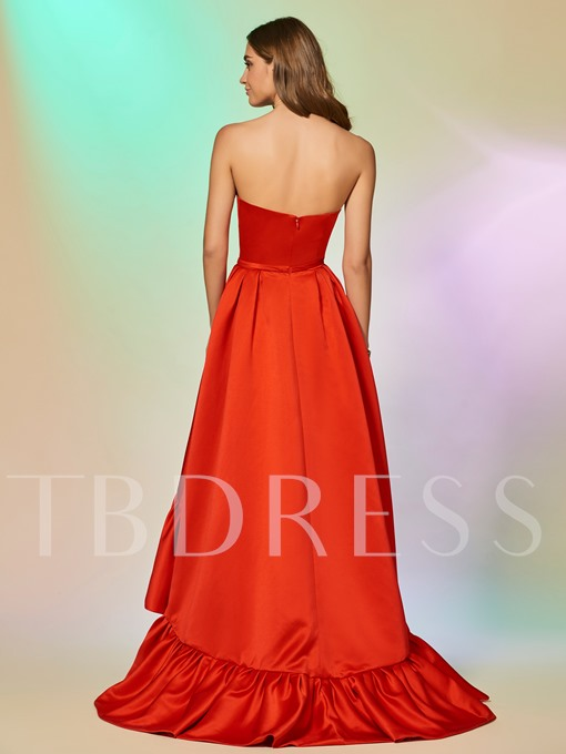 Ruched A-Line Asymmetry Evening Dress
