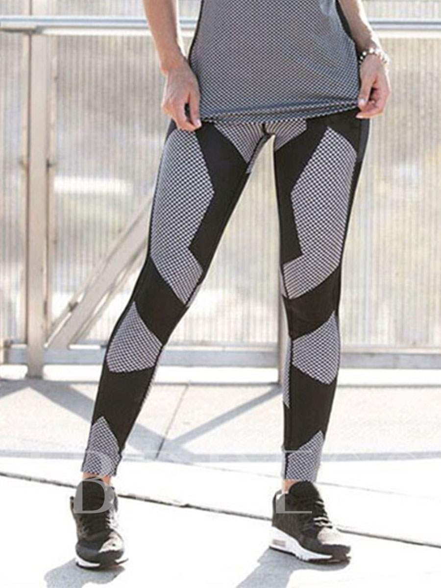 Patchwork Elastic Women's Yoga Leggings