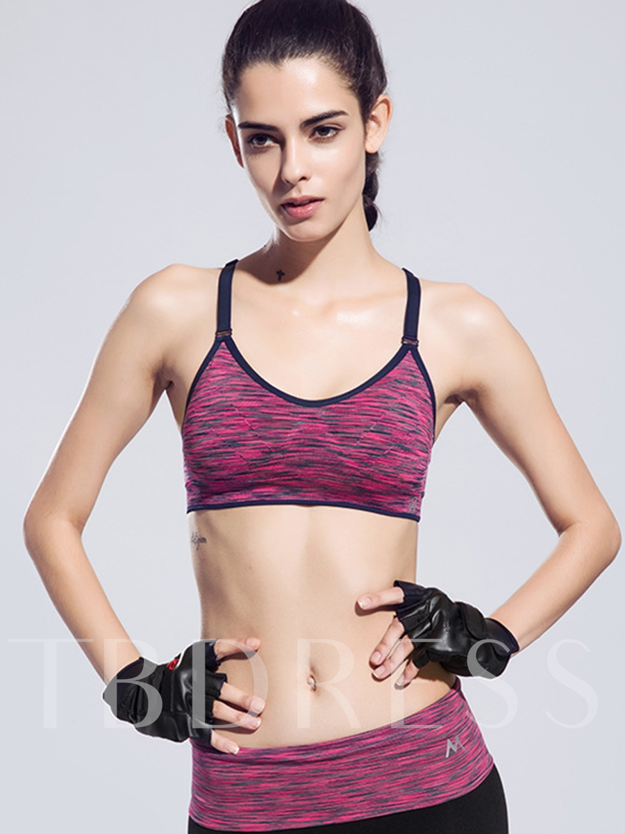 Plain Adjusted Straps Women's Sports Bra
