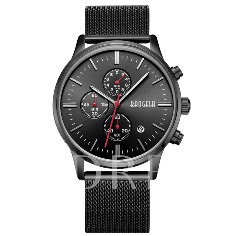 Calendar Display three chronograph watch Alloy Quartz Men's Watches