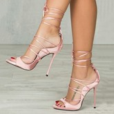 Cross Strap Stiletto Heel Women's Sandals