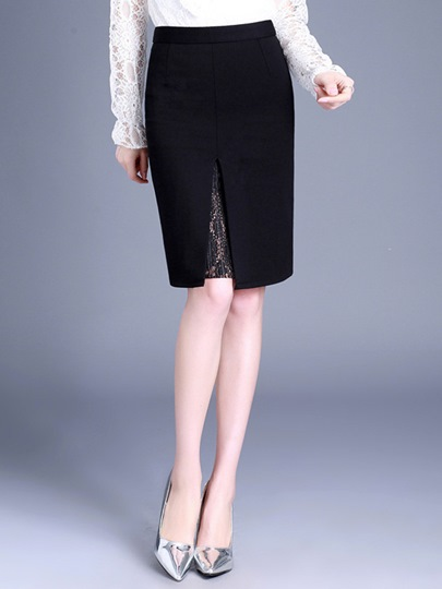 Plain Mini Bodycon High Waist Women's Skirt