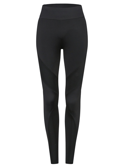 Mid-Waist Patchwork Plain Women's Leggings