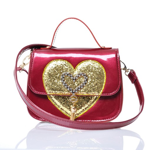 Vogue Loving Heart Sequins Design Tote Bag