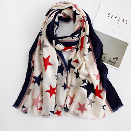 American Flag Stars Cotton Scarfs