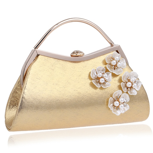 Trendy Style Pearl Adornment Women's Clutch
