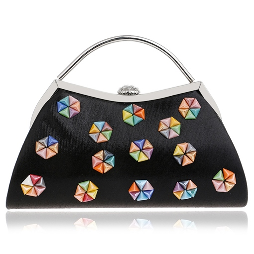European Style Colorful Bead Design Clutch