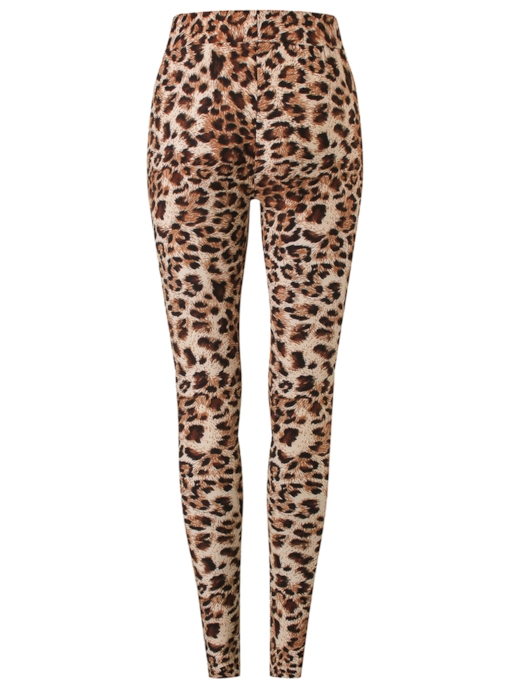 Leopard Printing Patchwork Women's Leggings
