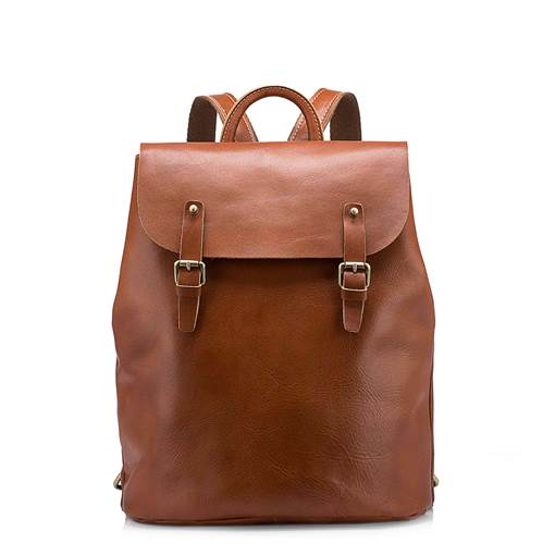 Modern Style Plain Leather Backpacks