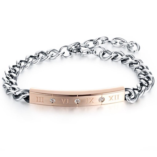 Link Chain Silver Plated Lettering African Men's Bracelet