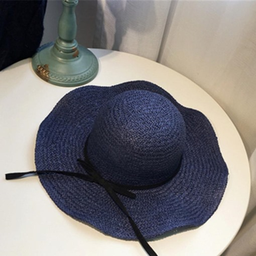 Bowknot Straw Plaited Article Sun Hat
