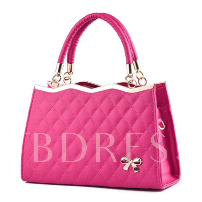 Exquisite Toothpick Grain PU Women Tote Bag