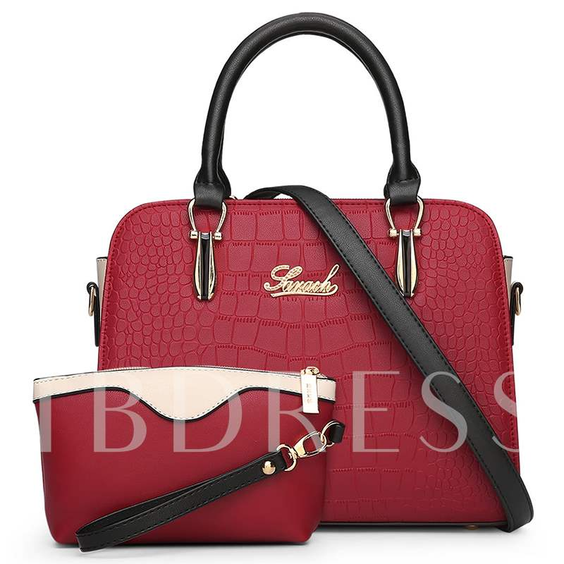 Vogue Style Embossed 2 Pieces of Bag Sets