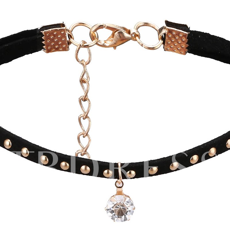 Butterfly Alloy Rhinestone Personalized Torques Choker Necklace