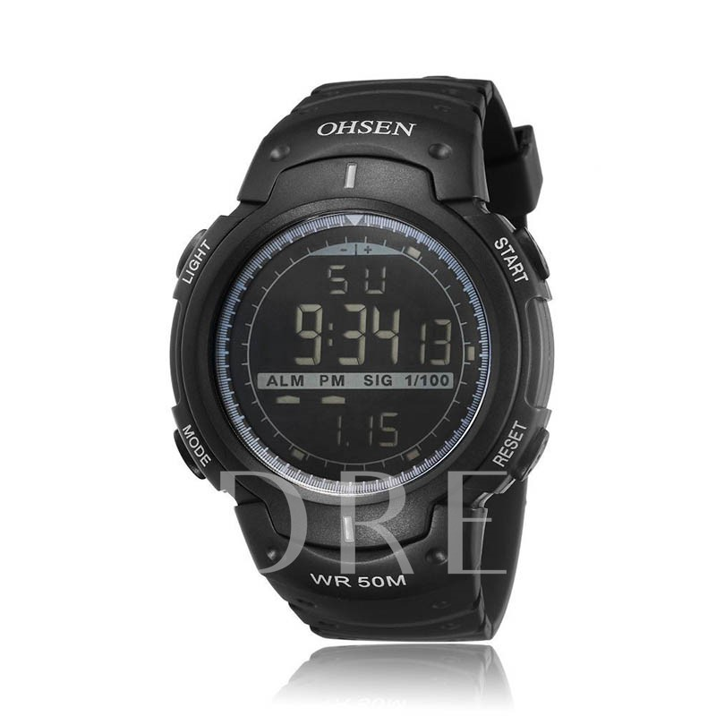 Water Resistant Luminous Digital Display Digital Sports Men's Watches