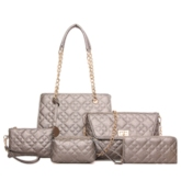 Latest Embroider Ling Plaid Bag Sets(5 Bags)
