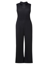 Plain High Waist Plus Size Slim Women's Jumpsuit