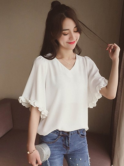 Cute Summer Short Sleeve Womens' s Casual Tee