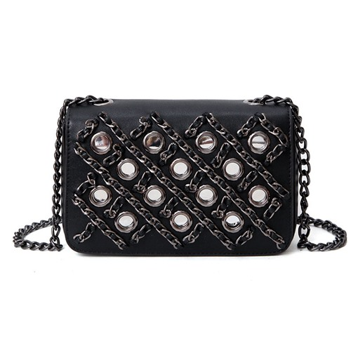 Vogue Hollow Woven Chain Cross Body Bag