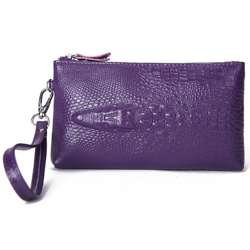 Elegant Crocodile Grain Embossed Wallet