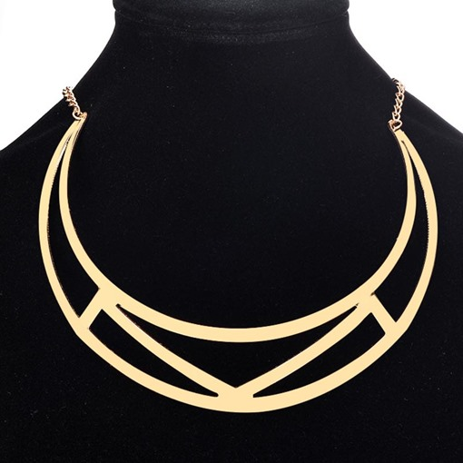 Geometric Hollow Out Alloy Necklace
