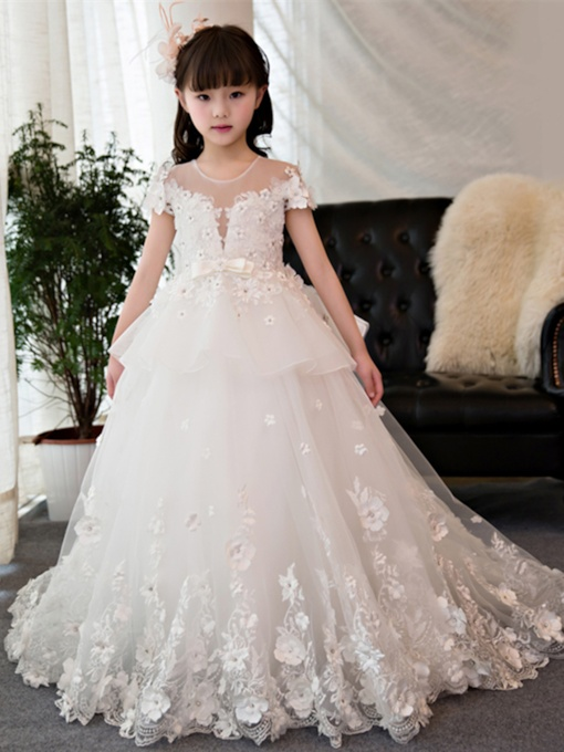 3235cb22546a Cute Flower Girl Dresses with Ivory in White - Tbdress.com