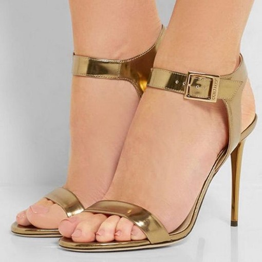 Open Toe Ankle Strap Heel Sandals