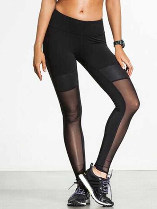 Patchwork See Through Quick Dry Women's Yoga Leggings