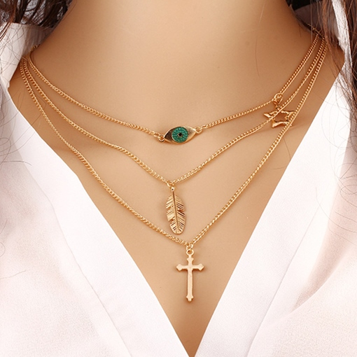 Simple Plain Long Chain Jewelry Alloy Necklace