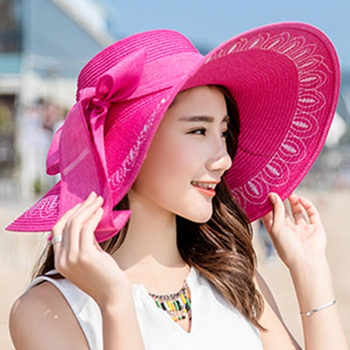 Wide Brim Straw Plaited Article Sun Hat