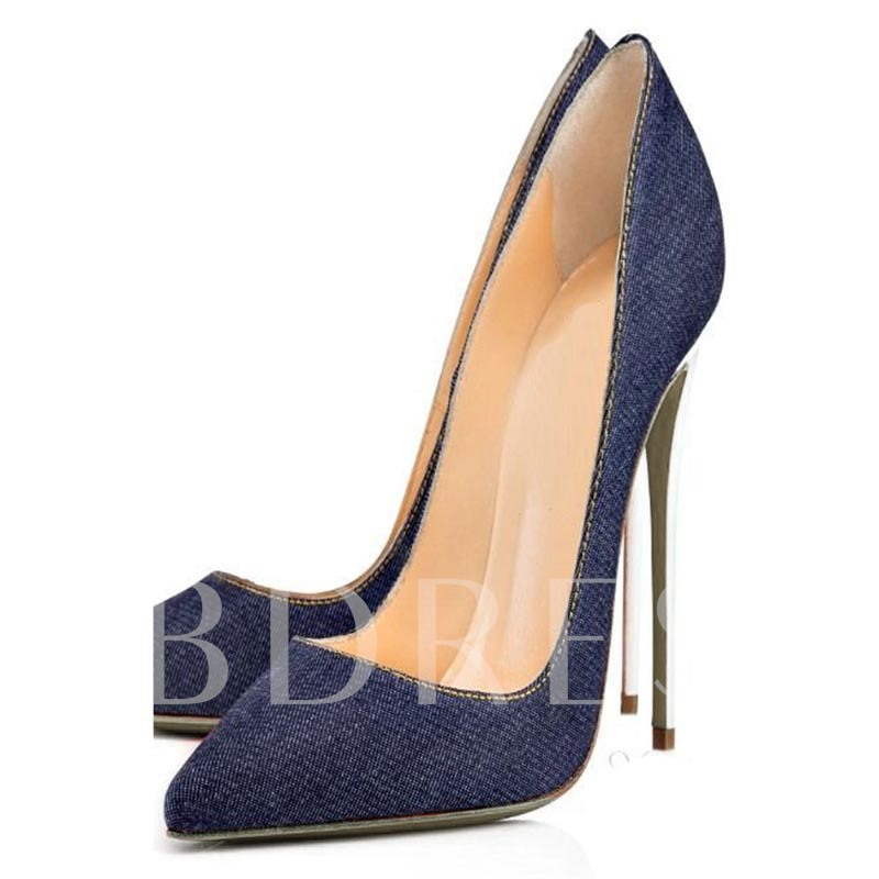 Buy Pointed Toe Stiletto Heel Sewing Thread Pumps, Spring,Summer,Fall, 12861903 for $40.99 in TBDress store