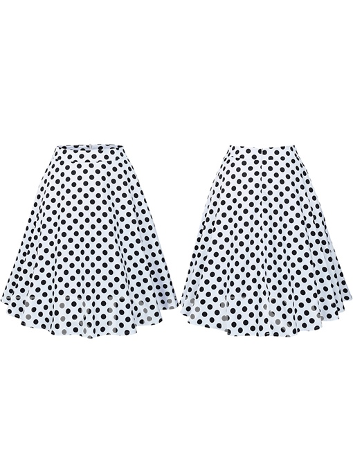 Polka Dots Pleated Zipper Women's Skirt