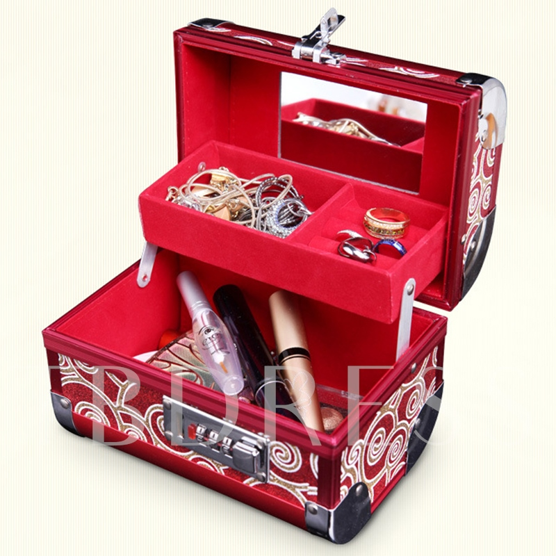 High-end Vintage Coded Lock Jewelry Box