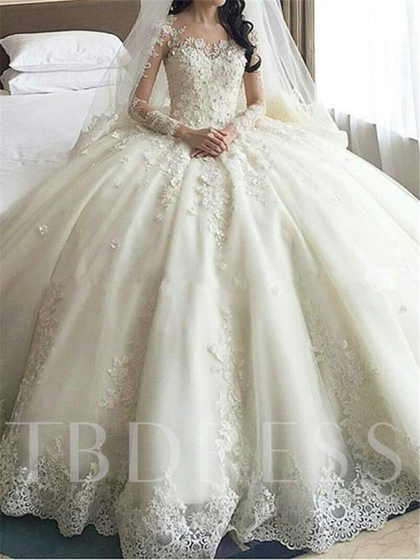 Long Sleeve Liques Cathedral Train Wedding Dress Sold Out