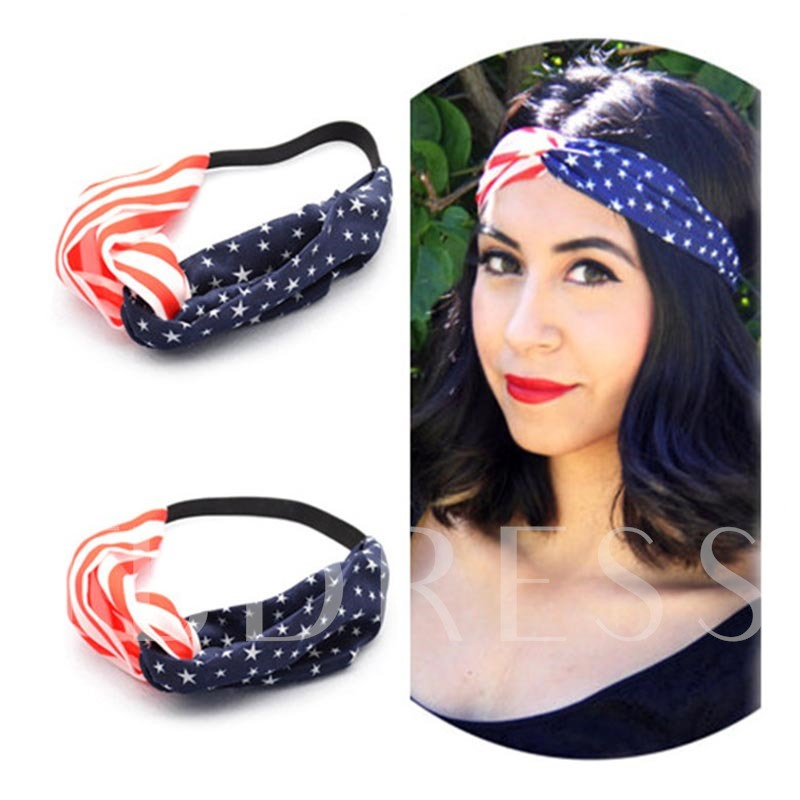 American Flag Cross-Hair Band