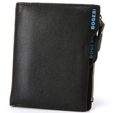 Short Style Multi Pockets PU Men's Wallet