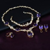 Sapphire Rhinestone Inlaid Diamante Jewelry Sets