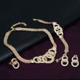 Ring Hollow Out Alloy Diamante Jewelry Sets