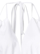 Backless Lace-Up Halter Women's Maxi Dress