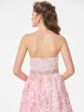 Lace Strapless A-Line Beading Floor-Length Prom Dress