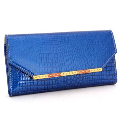 Chic European Style Crocodile Grain PU Wallet