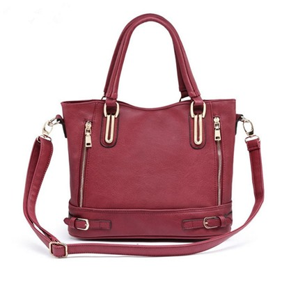 Classical Style Zippers Decoration Tote Bag