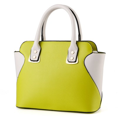 Modern Style Color Block Women Tote Bag