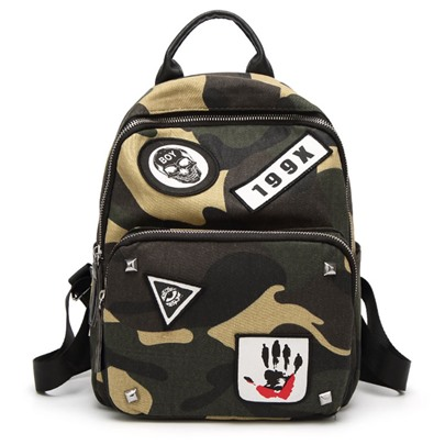 Korean Style Camouflage Design Oxford Backpack