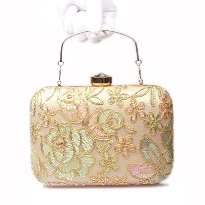 European Style Lace Embroidery Evening Clutch