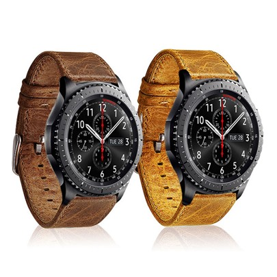 Army Style Artificial Leather Smart Watch Band for Samsung Gear S3