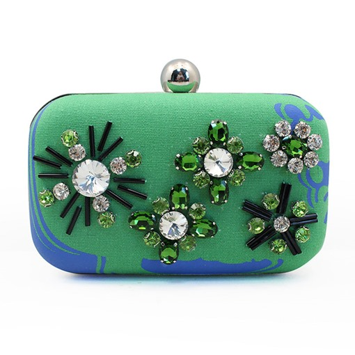 European Style Newest Bead Decoration Clutch