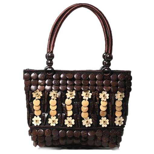 Ethnic Style Coconut Shell Woven Tote Bag