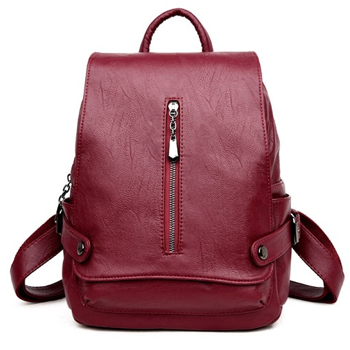 Korea Preppy Style Zippers Design Backpack