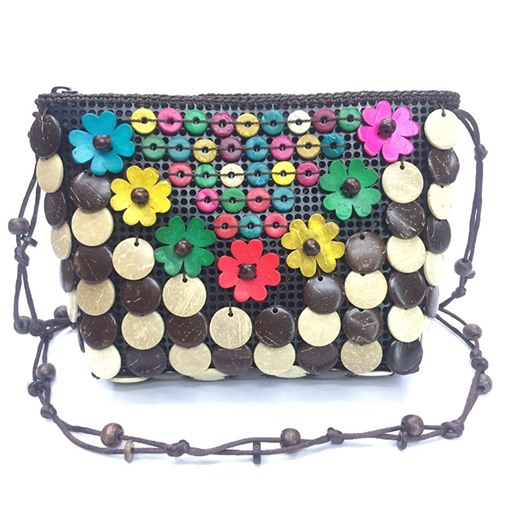 Handmade Beads Coconut Shell Cross Body